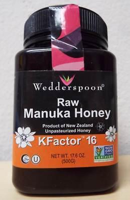 Wedderspoon 100% Raw Premium Manuka Honey Active KFactor 16+ - 17.6 oz / 500 g