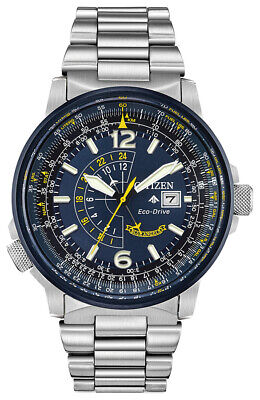Citizen Eco-Drive Men's Promaster Nighthawk Blue Angels 42mm Watch BJ7006-56L