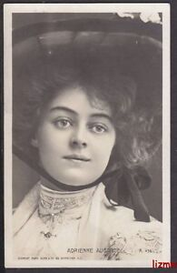 ACTRESS MISS ADRIENNE AUGARDE CLOSE UP WEARS HAT PHOTO CARD
