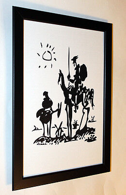 Pablo Picasso don Quixote framed giclee 8.3X12 print on canvas art reproduction