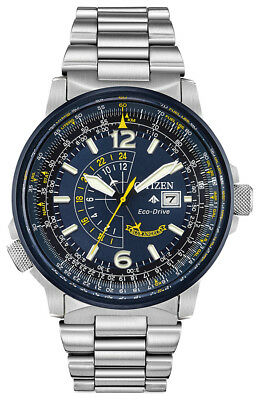 Citizen Eco-Drive Men's Blue Angels Promaster Nighthawk 42mm Watch BJ7006-56L