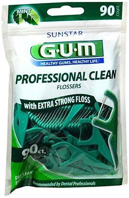 GUM Eez-Thru Flossers Mint 90 Each