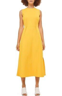 Topshop Yellow Midi Dress Size 6