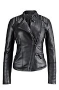 Womens Leather Biker Jacket Small