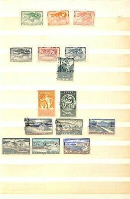 [OP1776] Greece lot of stamps on 12 pages