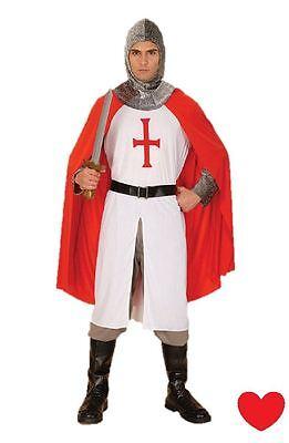 Herren Ritter Kostüm England st George Mittelalterlich XL - England Ritter Kostüm