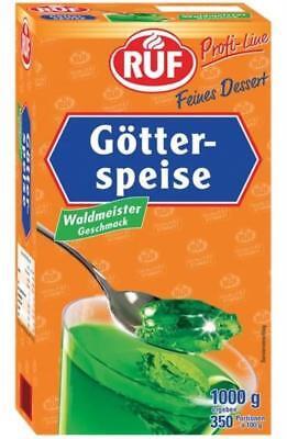 (1000g=13,99€) RUF Götterspeise Waldmeister -1kg - ergibt 350 Portionen