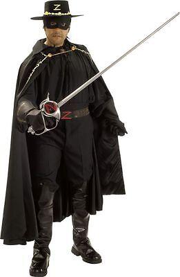 ZORRO GRAND HERITAGE COLLECTION ADULT MENS COSTUME Movie Black Theme Party - Deluxe Zorro Costume