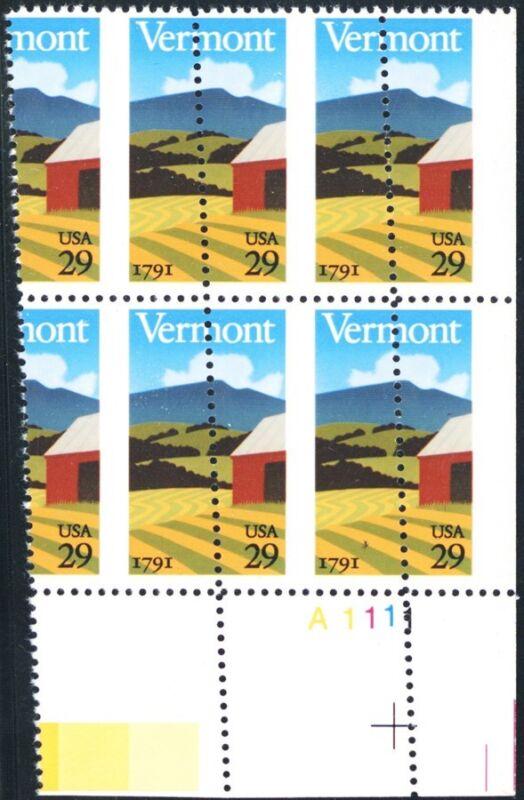 2533, Large Misperfed Error Plate Block Of 4 29¢ Stamps Mnh - Stuart Katz