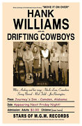 Hank Williams Concert Poster