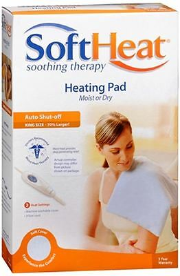 SoftHeat Heating Pad Moist or Dry Heat King Size HP118 1 Each (Pack of 5)