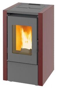 Stufa a pellet king 6 da 5 8 kw riscaldamento casa ambiente 55mq basso consumo ebay - Stufa alogena basso consumo ...