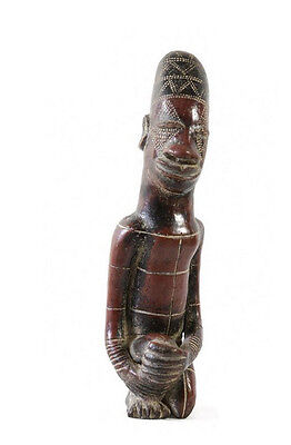 Statue Ancestor Terracotta Mangbetu Rd Congo Art African AB1
