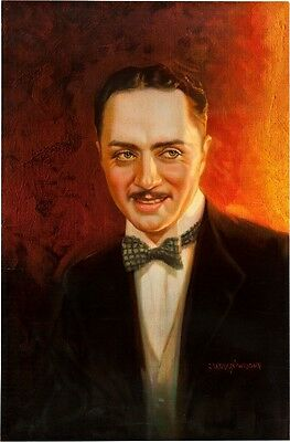 William POWELL - 1930 Oil Painting by C. Lennox Wright II - Paramount Pictures!