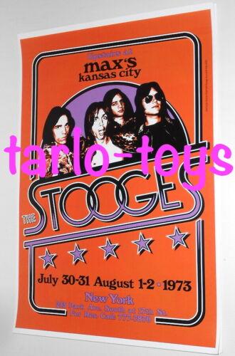 The STOOGES - Iggy Pop - Detroit, Us - 27 march 1973   - concert poster