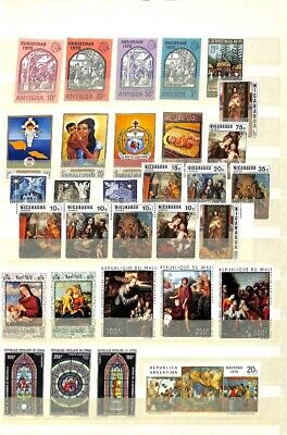 [OP7666] Worldwide lot of stamps on 12 pages