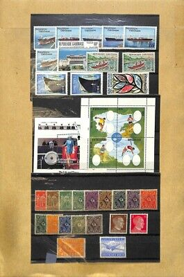 [OP7604] Worldwide lot of stamps on 12 pages