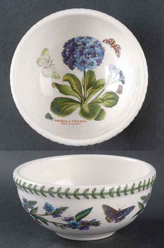 Portmeirion BOTANIC GARDEN Blue Primrose Salad Dessert Fruit Bowl 5654309