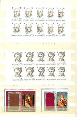 [OP7665] Belgium lot of stamps on 12 pages