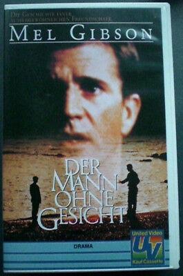 Der Mann ohne Gesicht,  VHS Video, Drama mit Mel Gibson Video Gesicht