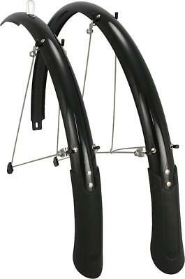 Planet Bike Cascadia 700c x 45 Fender Set: Black (700c x 25-35) ()