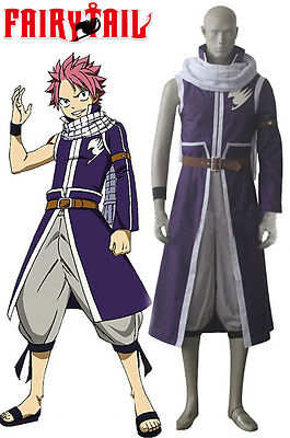 FAIRY TAIL Natsu Dragneel Cosplay Kostüm costume Kleidung Anime Cartoon Child v4