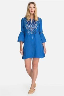 Johnny was lapis chiara with slip Embroidered circle sleeve M