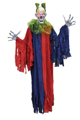 Evil Clown Decorations (Hanging Evil Clown 60 Inches Halloween Decoration Haunted)