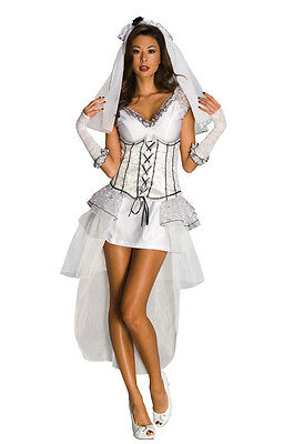 Gothic Mistress Ghost Zombie Monster Bride Dress Up Halloween Sexy Adult Costume](Gothic Bride Halloween Costume)