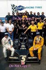Ronnie Peterson & Mario Andretti JPS Lotus Italian Grand Prix 1978 Photograph