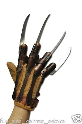 NIGHTMARE ON ELM STREET FREDDY KRUEGER Kruger SUPREME MOVIE REPLICA METAL GLOVE