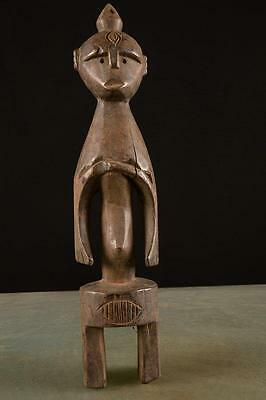 Rare Antique Mumuye sculpture Nigeria African  Fes- 0220