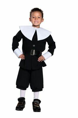 Pilgrim Boy Thanksgiving Child Costume Kids Cute Theme Party Religious Halloween (Religious Halloween Party)
