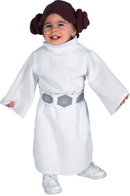Princess Leia Child Headpiece And Sleeved Costume Fancy Dress Toddler Rubies](Princess Leia Costume Toddler)