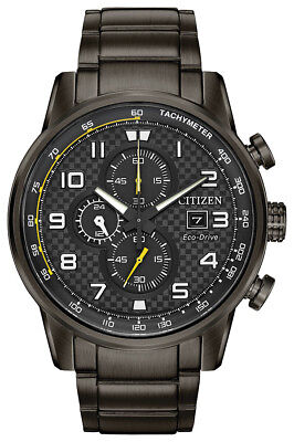 Citizen Eco-Drive Men's Primo Chronograph Gray Bracelet 45mm Watch CA0687-58E