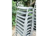 Poly Flat Top Stools 430mm (grey)