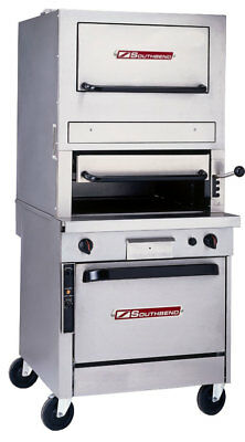 Southbend P32c-32b 32 Gas Upright Radiant Broiler Cabinet Base W Warming Oven