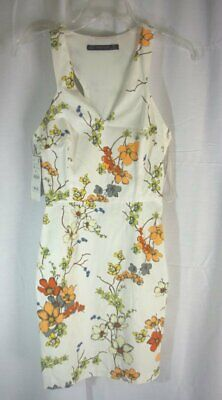 Women's Zara Basic Fitted Halter Dress-XS-Ivory Floral Print-NWT-Summer