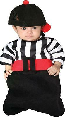 Halloween Costumes With Flannels (INFANT BUNTING EMPIRE REFEREE SPORTS COSTUME WITH HAT)