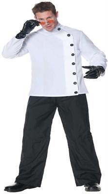 Herren Verrückter Wissenschaftler Kittel Style Seitlicher Knopf Hemd Verkleidung (Wissenschaftler Kittel)