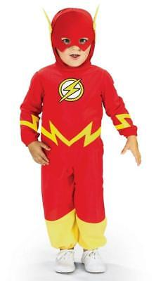 BOYS FLASH SUPER HERO COMIC COSTUME TODDLER 2-4 NEW RU885210T