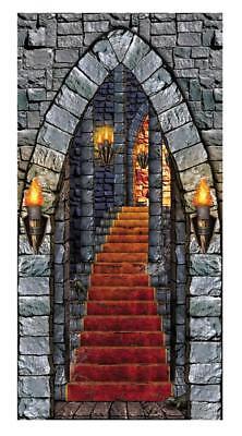 Halloween Party Entrance (CASTLE DUNGEON ENTRANCE DOOR COVER HALLOWEEN PARTY DECORATION)