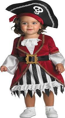 Kleinkinder Mädchen Piratenprinzessin Kleid Hut Kostüm 12-18 Mos Dg1764w (Piraten Prinzessin Kostüm Kleinkind)