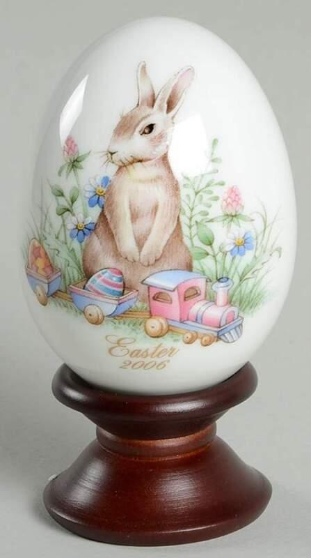 Noritake EASTER EGG Rabbit & Train 2006 5580726