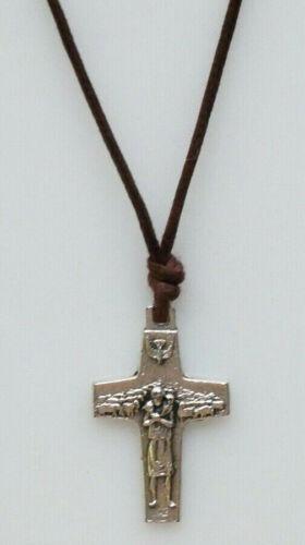 "Pope Francis 1"" Original Pectoral Cross with Brown Cord (Antonio Vedele)"