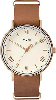 Timex TW2R28800, Men's Southview, Brown Leather Watch, TW2R288009J