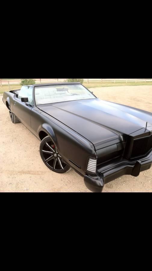 1973 Lincoln Continental Mark IV 1973 Lincoln Continental Mark IV Custom Chop Top Rat Rod w/ DUB Rims Wheels WOW!