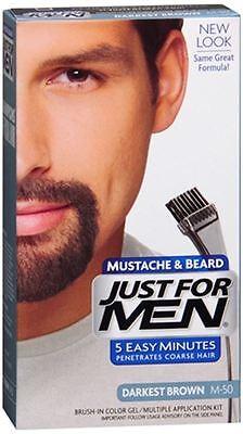 JUST FOR MEN Color Gel Mustache - Beard M-50 Darkest Brown 1 Each