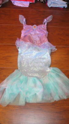 THE DISNEY STORE THE LITTLE MERMAID ARIEL COSTUME DRESS XXS 2-3 - Mermaid Costume 2t
