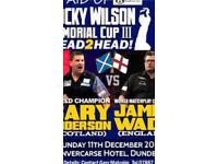 VIP Darts Tickets - Sunday 11th Dec Dundee - Meet Anderson & Wade
